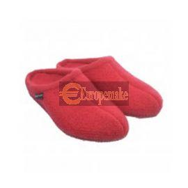 Haflinger Women's Slipper Alaska size-40,Brick-Red