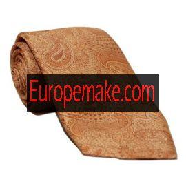 Andrew's Milano Orange Embroidered Paisley Necktie