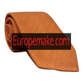 Andrew's Milano Solid Orange Soft Silk Tie