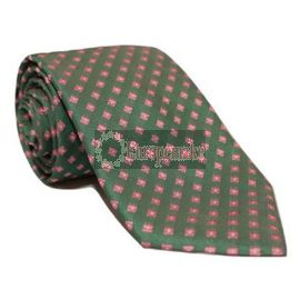 Andrew's Milano Green with Pink Dots Tie