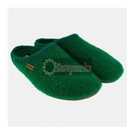 Haflinger Women's Slipper Classic Size-36,Emerald