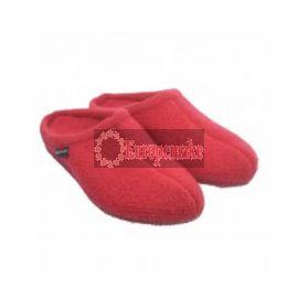 Haflinger Women's Slipper Alaska size-41,Brick-Red
