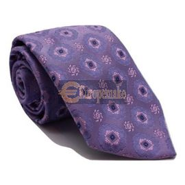 Andrew's Milano Purple and Pink Satin Silk Tie
