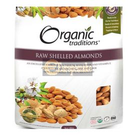 Organic Traditions Raw Shelled Almonds 454g