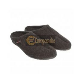 Haflinger Women's Slipper Alaska size-38,Graphite