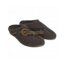 Haflinger Women's Slipper Alaska size-42,Graphite