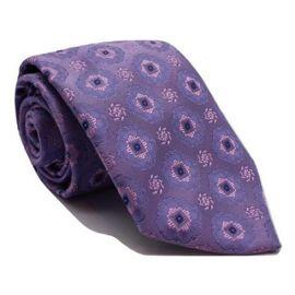Andrew's Milano Purple and Pink Satin Silk Tie