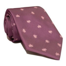 Andrew's Milano Purple Maple Leaf Tie