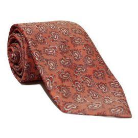 Andrew's Milano Shiny Red Paisley Necktie