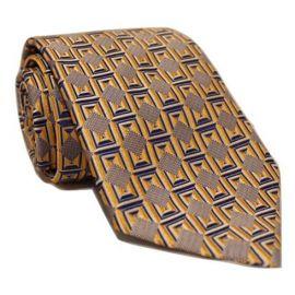 Andrew's Milano Orange with Navy Hue Necktie