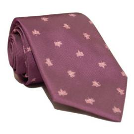 Andrew's Milano Purple Maple Leaf Tie